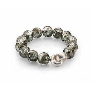 Armband Muranoglas Silber  | Accessoires